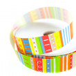 Color striped ribbon spool — Stock Photo