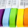Seven rainbow colored ribbons — Stock Photo #2544589