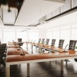 Conference room interior 3d render — Stock Photo