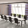 Conference room 3d — Stock Photo
