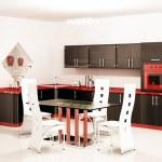 Interior of modern black kitchen — Stock Photo #2269680