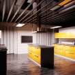 Modern kitchen 3d render — Stock Photo