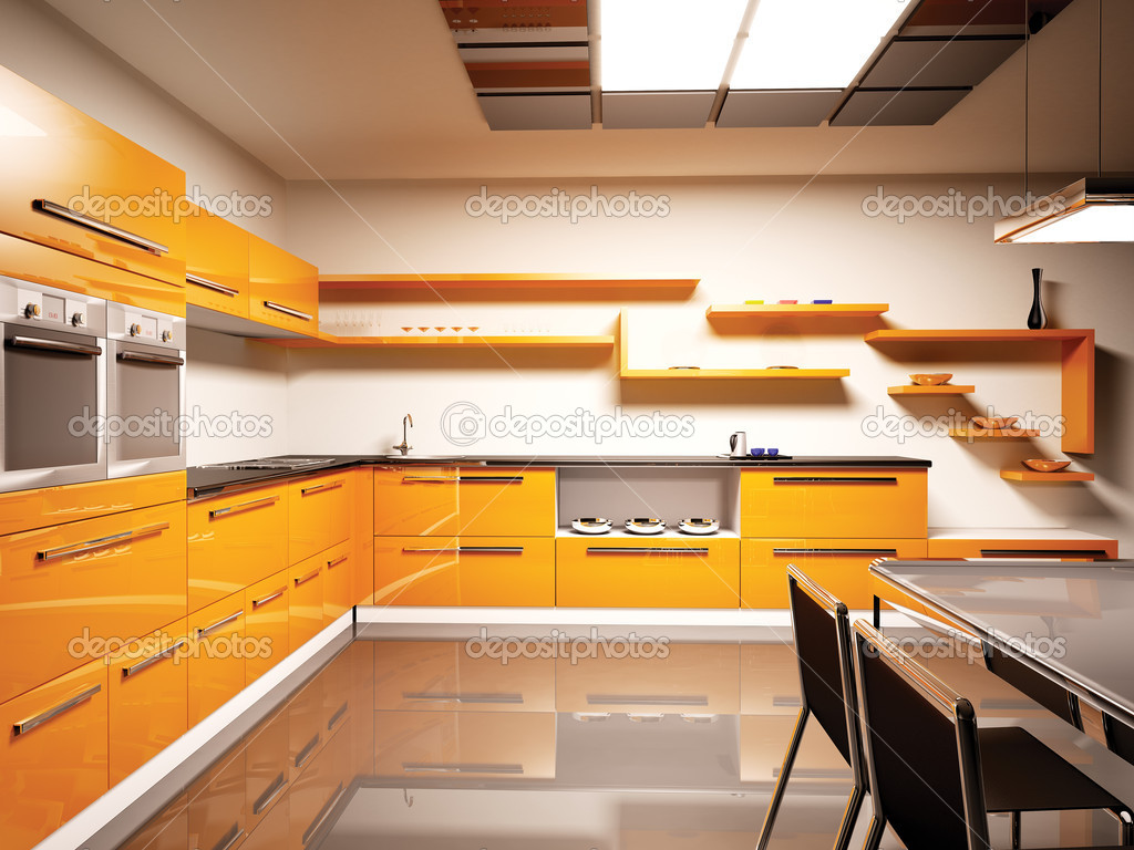Modern kitchen interior 3d stock photo scovad 2269777 - Kitchen interior photos ...