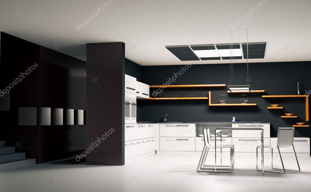 Render 3d interior cocina moderna — fotos de stock © scovad #2269807