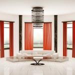 Round room interior 3d — Stock Photo