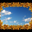 Gold frame with blue sky - Photo