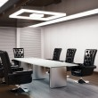 Conference room 3d render - Stock Photo