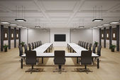 Conference room interior 3d — Stock Photo