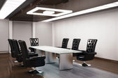 Conference room 3d render — Stock Photo