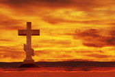 Cross in the sky — Stock Photo