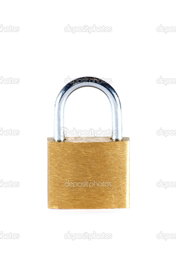 Lock isolated over white — Stock Photo #2270813