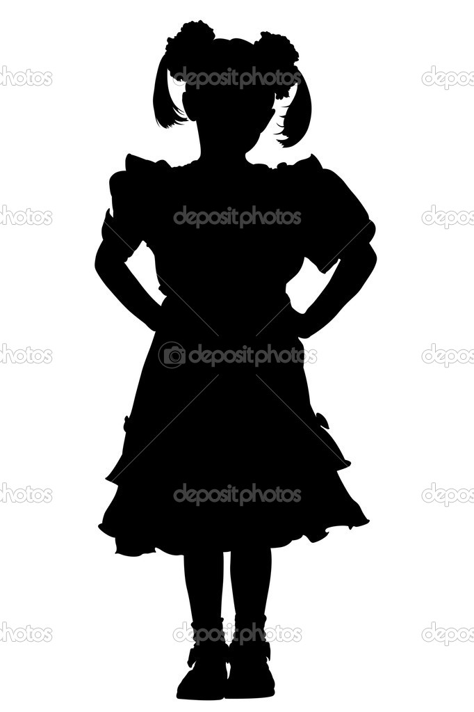 Little girl silhouette — Stock Photo © scovad #2270859