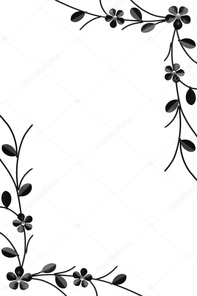 Frame made with metal branches over white  — Stock Photo #2273794