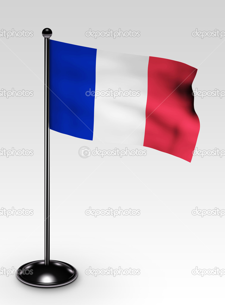 Small france flag with clipping path 3d render — Stock Photo #2279047