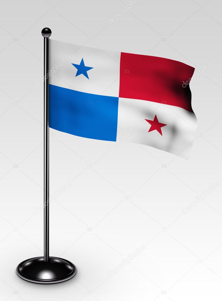 Small Panama flag clipping path — Stock Photo © scovad ...