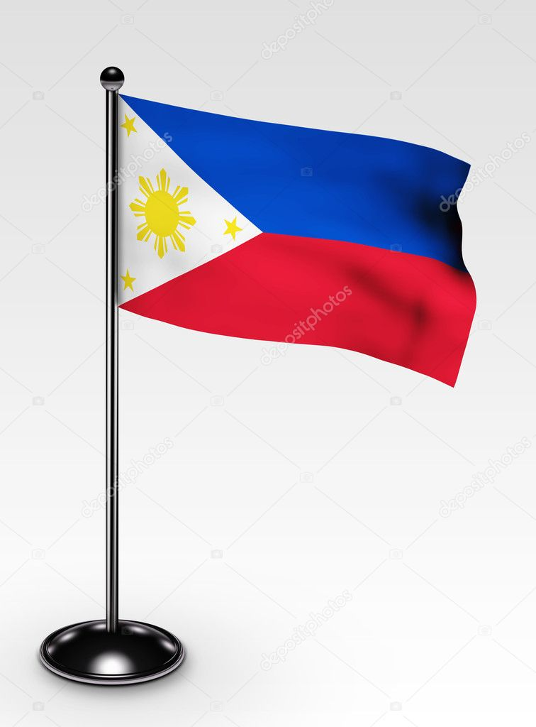 Small Philippines flag with clipping path 3d render — Stock Photo #2279963