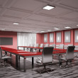 Stock Photo: Conference room interior 3d