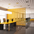 Stock Photo: Modern office interior 3d render