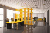 Modern office interior 3d render — Stock Photo