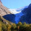 Glacier in scandinavian mountains — Stock Photo