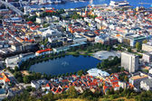 Bergen landscape in Norway — Stock Photo