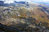 Autumn mountains of Scandinavia — Stock Photo