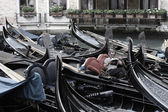 Gondolier on rest — Stock Photo