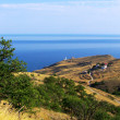 sea and mountains crimea beautiful lansc — Stock Photo