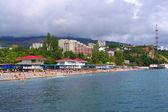 Crimea seacost in partenit — Stock Photo