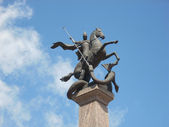 Statue on horse — Stock Photo