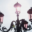 Lamp-post in venice — Stock Photo