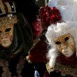 Masks in venice carnival — Stock Photo