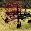 Stock Photo: Red plow