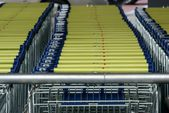 Line of carts — Stock Photo