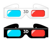 Gafas 3d — Vector de stock