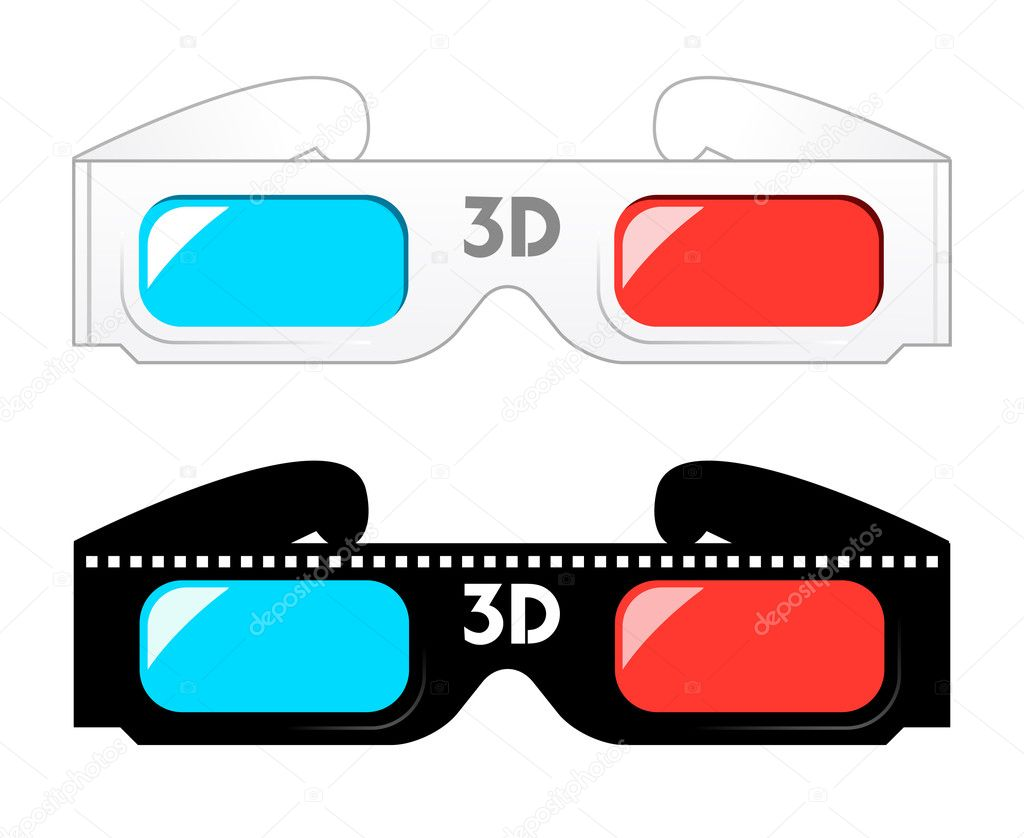 3d glasses — Stock Vector © exile7 #2399116