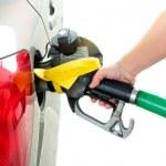Closeup refuel gasoline — Stock Photo