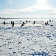 Skating on frozen lake — Stock Photo #2384248