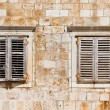 window shutters on old house - croatia — Stock Photo