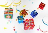 Colorful gifts — Stock Photo