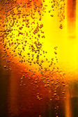 Glass of beer with bubbles — Stock Photo