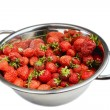 Fresh strawberries in the bowl - Stock Photo