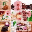 Collage spa composition - Stock Photo
