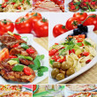 Beautiful collage food - 图库照片