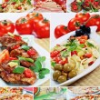 Beautiful collage food — Stockfoto
