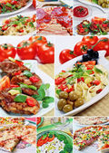 Beautiful collage food — 图库照片