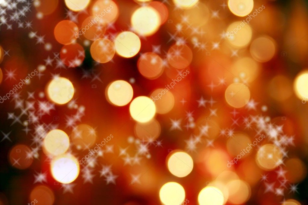 Abstract background of christmas orange lights — Stock Photo #2479439
