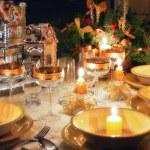 Christmas table with christmas mood — Stock Photo