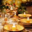 Christmas table  with christmas mood - Stock Photo