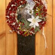 Christmas wreath knit from chestnuts — Stock Photo #2527786
